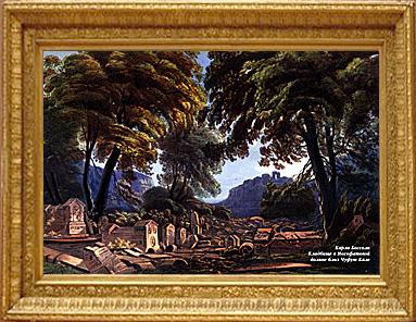 Кладбище в Иософатовой долине близ Чуфут-Кале. Художник Карло Боссоли