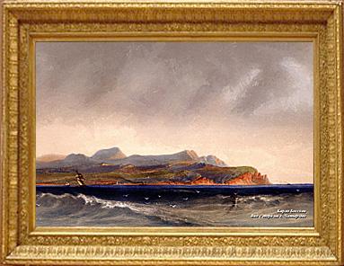 Вид с моря на г. Чатыр-Даг. Художник Карло Боссоли