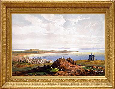 Керчь. Вид с горы Митридат. Художник Карло Боссоли